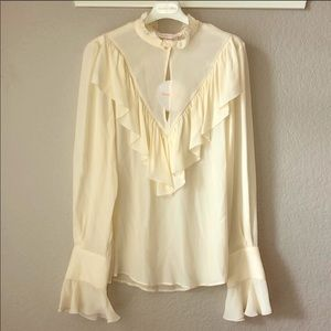See By Chloe NWT Neo-Victorian Ruffled Blouse